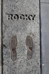 Rocky's footprints