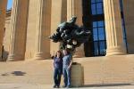 J & K in front of museum