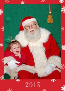 Laney and Santa 2013